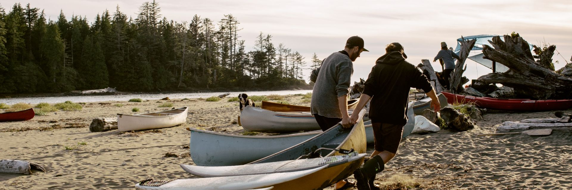 Canoeing in Raft Cove on Vancouver Island
