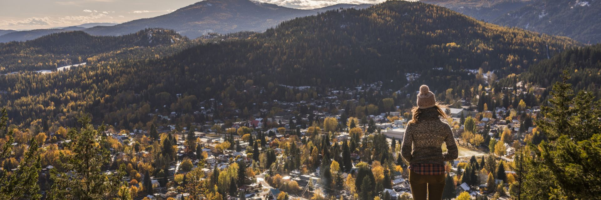 A view of Rossland, BC from the Kootenay Columbia viewpoint